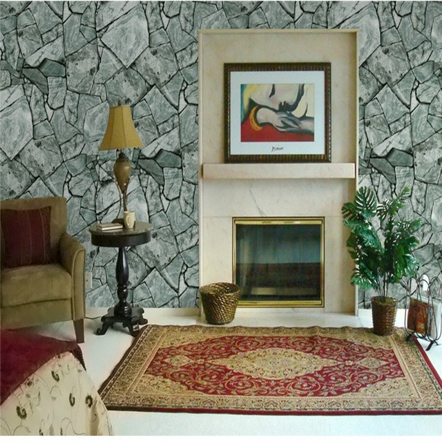 Free Shipping Chinese Marble Wallpapers Living Room TV Backdrop Hotel Front Desk Tea House Entrance Rock