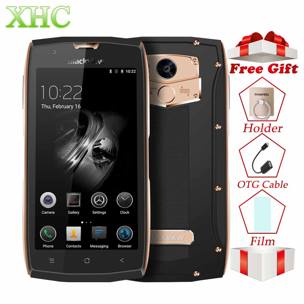Blackview BV7000 Pro Android 7.0 Mobile Phones IP68 Waterproof 64GB Touch ID 5.0'' FHD 4G LTE MTK6750T Octa Core 4GB Smartphone