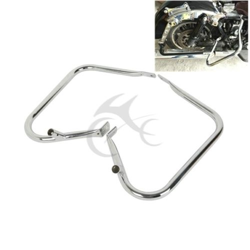 Saddlebag Bags Steel Guard Bracket For Harley Davidson Touring Models Electra Street Glide Road King FLHR FLHT FLTR 1997-2008 saddlebag lid rack top rail w light for harley touring ultra street electra glide 94 13