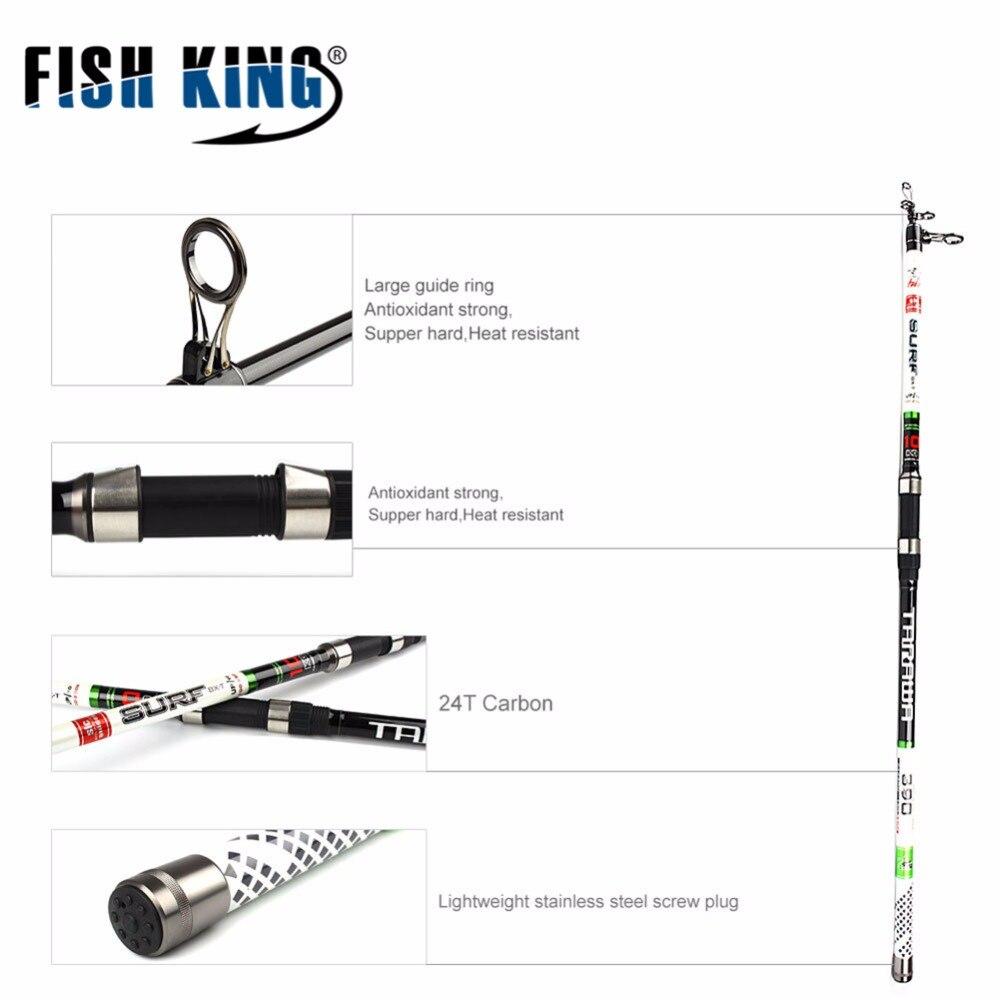 FISH KING 24 T canne à pêche carpe carbone 3.9 m 4.2 m 4.5 m C.W. 100-250G 4 Scetions carbone matériel léger pêche océan canne à pêche