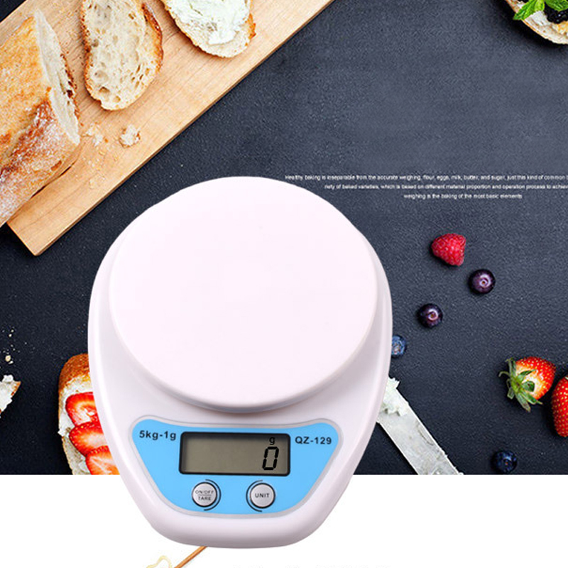 Mini Electronic Scale Kitchen Scale QZ-129 5kg 1g ABS Portable Digital Scale Practical LCD Display