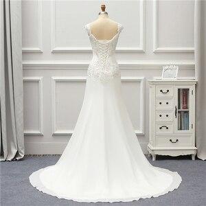 Image 2 - Jeanne Liefde Chiffon Mermaid Trouwjurken 2020 Kralen Applique Lace Robe De Mariage Vestido De Noiva Brida Jurken Wedding Gown