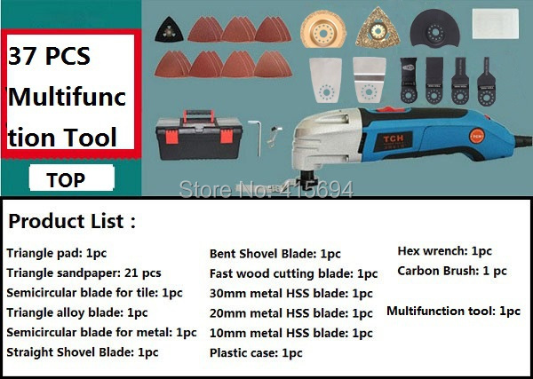 Tout-puissant! Outil électrique multifonction, 37 accessoires, outil multifonctions multi cutter. idées pour le bricolage décoration de travail!
