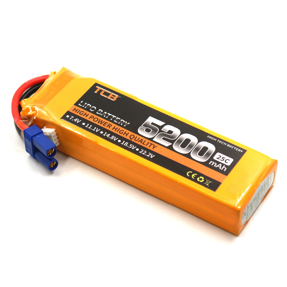 TCB RC Lipo battery 11.1v 5200mAh 25C 3s for rc airplane car drone bateria li-po batteria 3s mos rc airplane lipo battery 3s 11 1v 5200mah 40c for quadrotor rc boat rc car