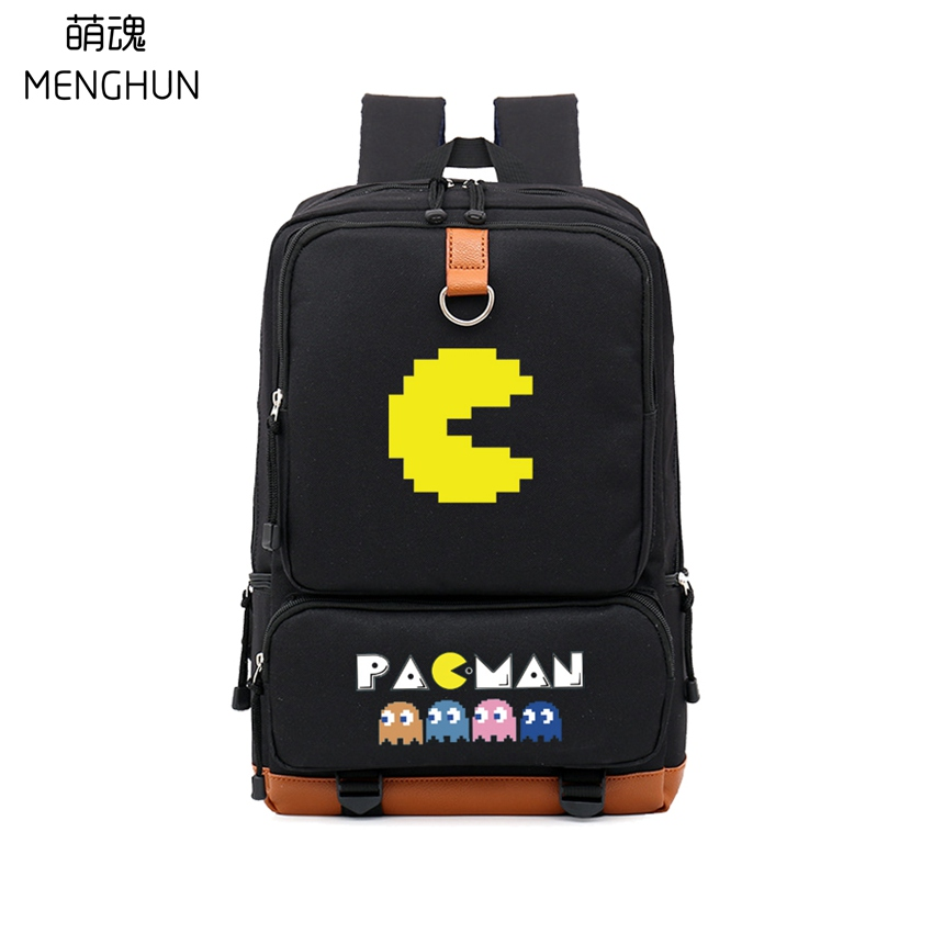 High capacity big backpack 15.6 inch laptop backpacks RETRO GAME PACMAN nylon backpacks gift for game fans nb232 hot pc game player unknown s battlegrounds backpacks school bags pubg backpack gift for boyfriend game fans daily use nb197