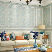 3D embossed American country pastoral style wallpaper European retro style bedroom living  sitting room TV background wall paper living in style country