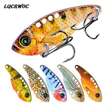 Metal Spoon Wobbler Fishing Lure 54mm 11g Bass Treble bionic VIB Lead Fish Artificial bait Fishing Crank Bait sink lifelike lure lifelike fish style fishing bait w treble hooks green golden