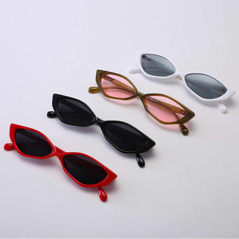 2019 Солнцезащитные очки Cat Для женщин Элитный бренд мужские солнцезащитные очки элегантные Винтаж с плоским верхом, серьги в форме маленького овального панк Солнцезащитные очки UV400 оттенки FML