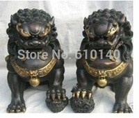 A pair Excellent Chinese Bronze Lion Statue