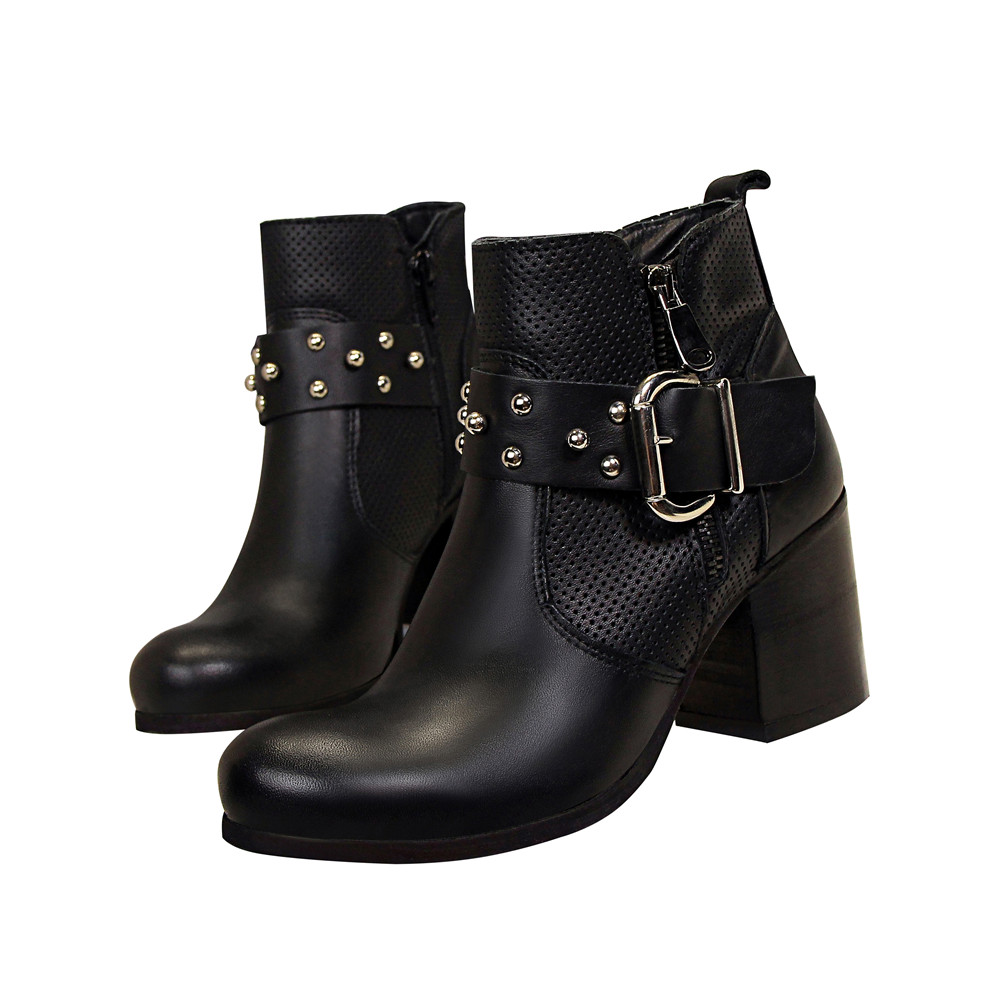 d'équitation femmes de chaussures Épais cheville bottes automne