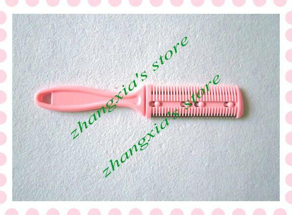 4 шт. расческа для волос с лезвием резец для волос-Бритва расческа триммер для волос профессиональная Бритва для парикмахерских домашних DIY Триммер LZS0112
