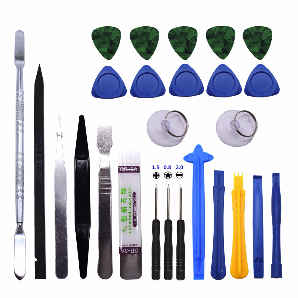 26 in 1 Mobile Phone Repair Tools Kit Spudger Pry Opening Tool Screwdriver Set for iPhone iPad Samsung Cell Phone Hand Tools Set discount mobile phone repair tools kit screen pry opening tool screwdriver set for iphone 6s 6 5s 5 samsungphone hand tools set