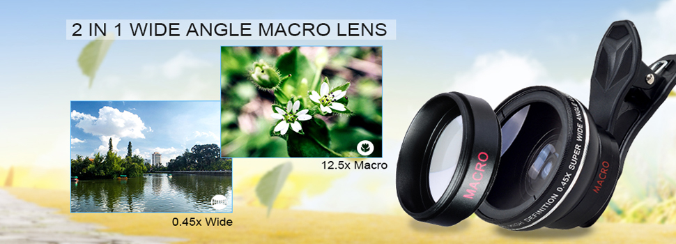 APEXEL Phone Camera Lens Kit Fish Eye Wide Angle/macro Lens CPL Kaleidoscope and 2X telephoto zoom Lens 7in1 for iPhone SAMSUNG 2