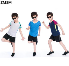 ZMSM Kids Tennis Shirts Sports Jersey Wicking Quick Dry Breathable Children Badminton Racing Suit T-Shirt Table Tenni NM5060