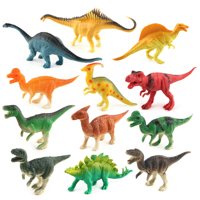 ▽12 unids/set Mundo Jurásico dinosaurios set simulación modelo ...