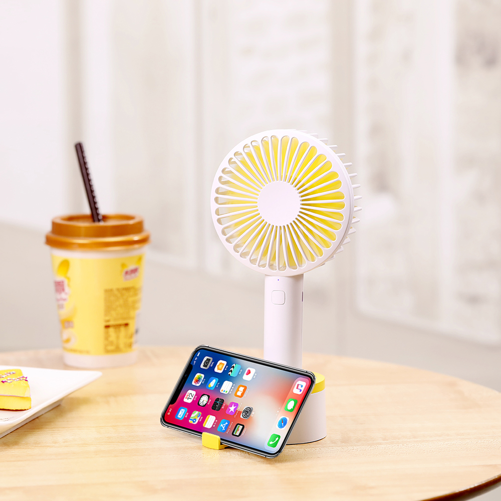 Mini Handheld Tragbare Fan Mit Stand Cradle Usb Einstellbare Fan Wind Gebläse Ventilateur Indoor Outdoor-fan Laptop Office Home