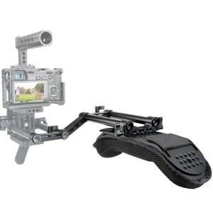 Image 5 - NICEYRIG デジタル一眼レフカメラ一眼レフビデオカメラショルダーリグドスカメラショルダーパッドとレール 15 ミリメートルロッドアクセサリー