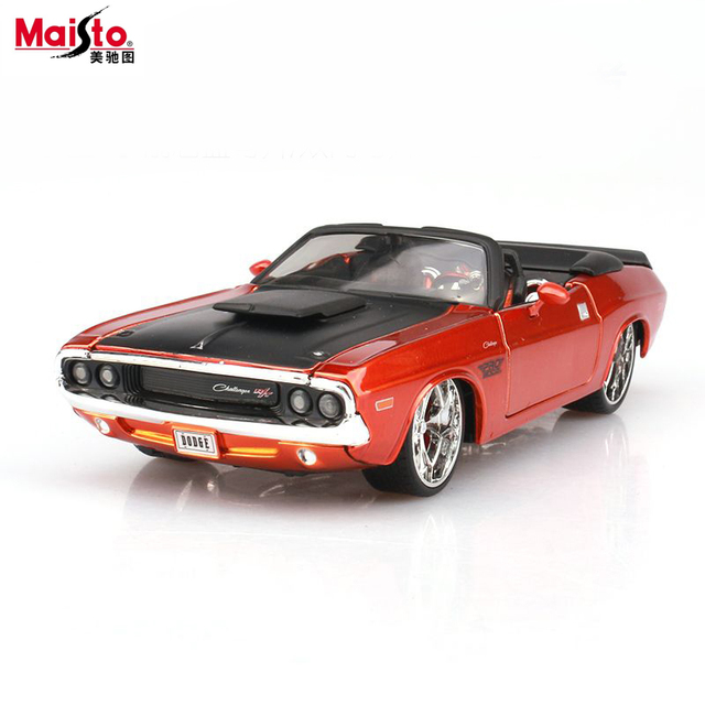 Maisto Dodge Challenger 1:24 Scale Car Model Alloy Toys Diecasts & Toy Vehicles Collection Gift