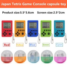 High Quality Tetris Game Console capsule toy  twisted egg gashapon toys Gacha christmas gifts Toys Built-in 26 varietie