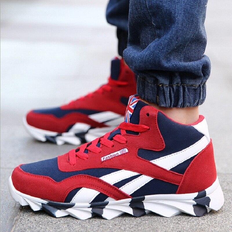 ea76ffe929 2016 de invierno para hombre calzado hoja cordón zapatos zapatillas de  baloncesto zapatos corrientes del mens zapatillas deportivas zapatillas  hombre scarpe ...