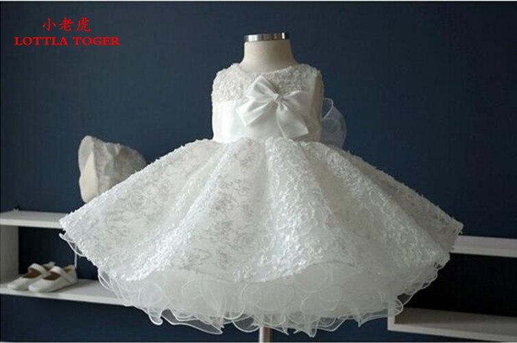 Date infantile bébé fille fête d'anniversaire robes baptême baptême robe de pâques enfant en bas âge princesse dentelle fleur robe pour 0-2 ans