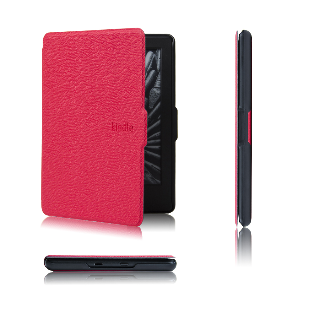 Ultra slim fina magnetic case capa para all-new kindle (geração 2016) couro pu capa case + dom gratuito