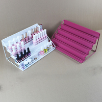 Nail Polish Desktop Rack 5 Layers Display Stand Storage Holds Iron Art Shelf Holder Case Shelf Nail Salon Tool