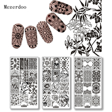 Mandala Flower Stamping Print Sencil Nail Art Polish Stamping Plates Skull Fire Nail Beauty Template Manicure DIY Styling Tools
