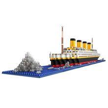 1860 pcs 3D Puzzle Building Block Educational games Ship model Childrens toys