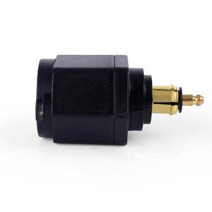 Image 4 - Nero Dual USB Caricatore Moto moto Caricabatteria Per BMW DIN Hella Moto Sigaretta Adattatore per Presa Accendisigari Con Ant polvere copertura