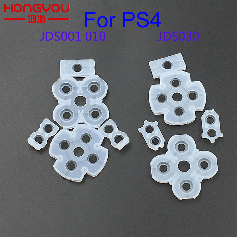 Soft Rubber Replacement For PlayStation DualShock 4 1000 1200 Silicone Conductive Adhesive Button For Sony PS4 Controller