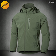 New 2016 Outdoors Thicken Hoodies Waterproof Thermal Soft Shell Sharkskin Commando Zipper Pocket Tactical Jungle Army Jacket