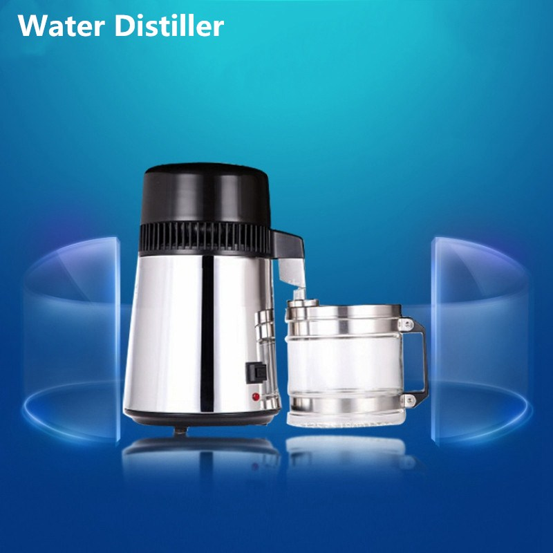 Water Distiller Pure 220V Water Purifier Filter 750W Stainless Steel Water Distiller Machine for Home Hospital Lab Office