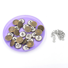 (50 sets/lot)2018 new20mm jeans buttons. rivet. Clothing & Accessories. Sewing patches.