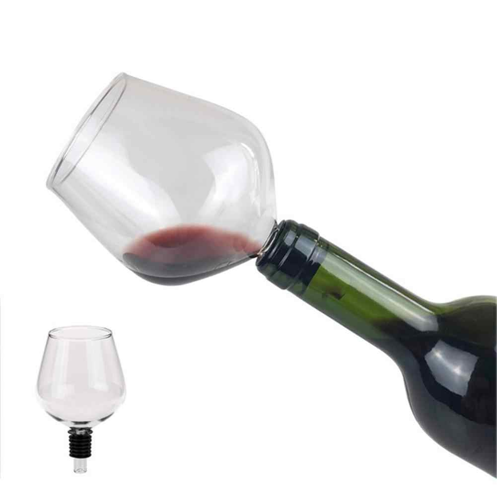 1PCS Drinking Directly from Bottle Clear Wine Glass Goblet Champagne Cup Barware Perfect Gift