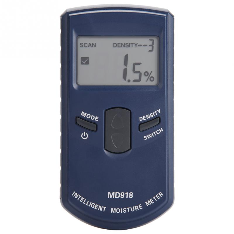 Digital Wood Hygrometer LCD Inductive Wood Moisture Meter Detector Timber Humidity Tester 4 80 RH MD918
