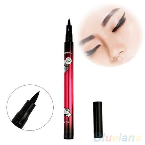 Черный Водонепроницаемый Подводка Для Глаз Liquid Makeup Pen Природный Comestic Глаз Liner Pencil 4DZS