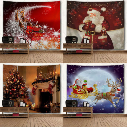 Xmas Household Printing Wall Hanging Tapestry Sled Santa Wall Ornaments Wall Art Christmas Home Decoration Gift-in Tapestry from Home u0026 Garden on ... & Xmas Household Printing Wall Hanging Tapestry Sled Santa Wall ...