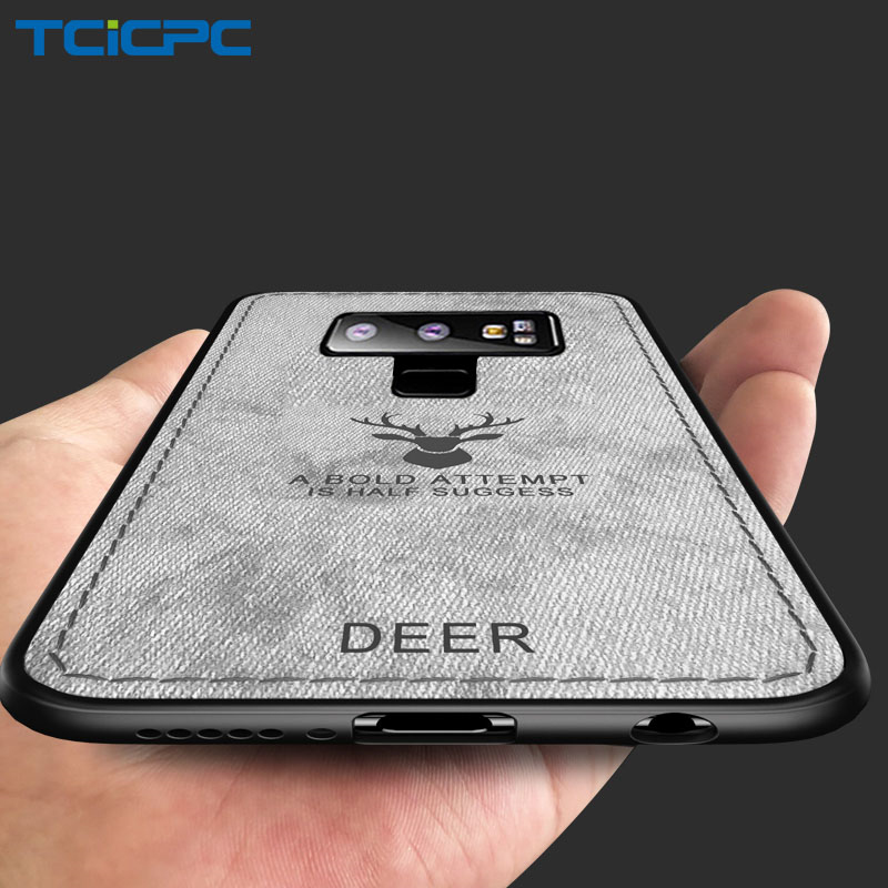 Phone Cases For Samsung Note 9 Case Deer Luxury Utral Thin Cloth Silicone Protective Back Cover For Samsung Galaxy Note 9 Coque