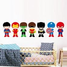 Creative Cartoon Superhero Batman Wall Sticker Vinyl Interesting Wall Art For Kids Room Home Decor Diy Door Stickers Poster