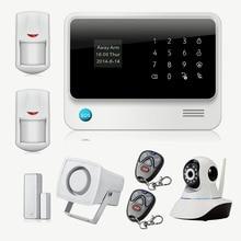 Chuangkesafe Inalámbrica GSM Seguridad Para el Hogar Sistema de Alarma de Control de IOS Android Con Cámara IP WiFi Alarme Maison