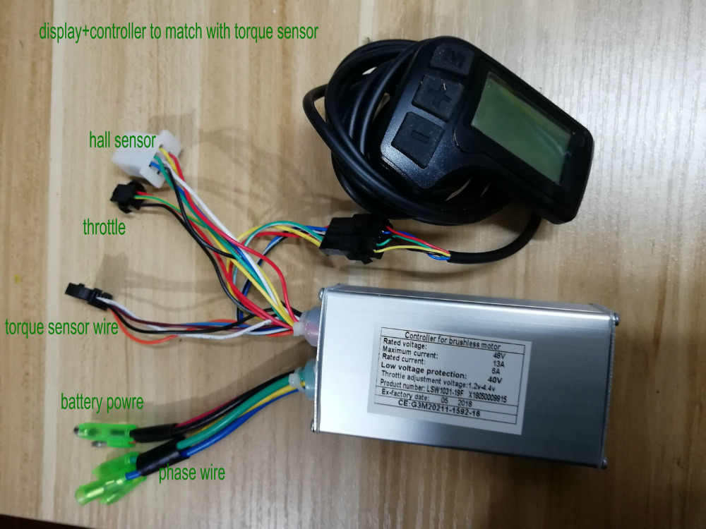 BLDC Controller&LCD DISPLAY for electric bicycle scooter folding bike MTB  PEDAL SCOOTER intelligent bike manual control panel