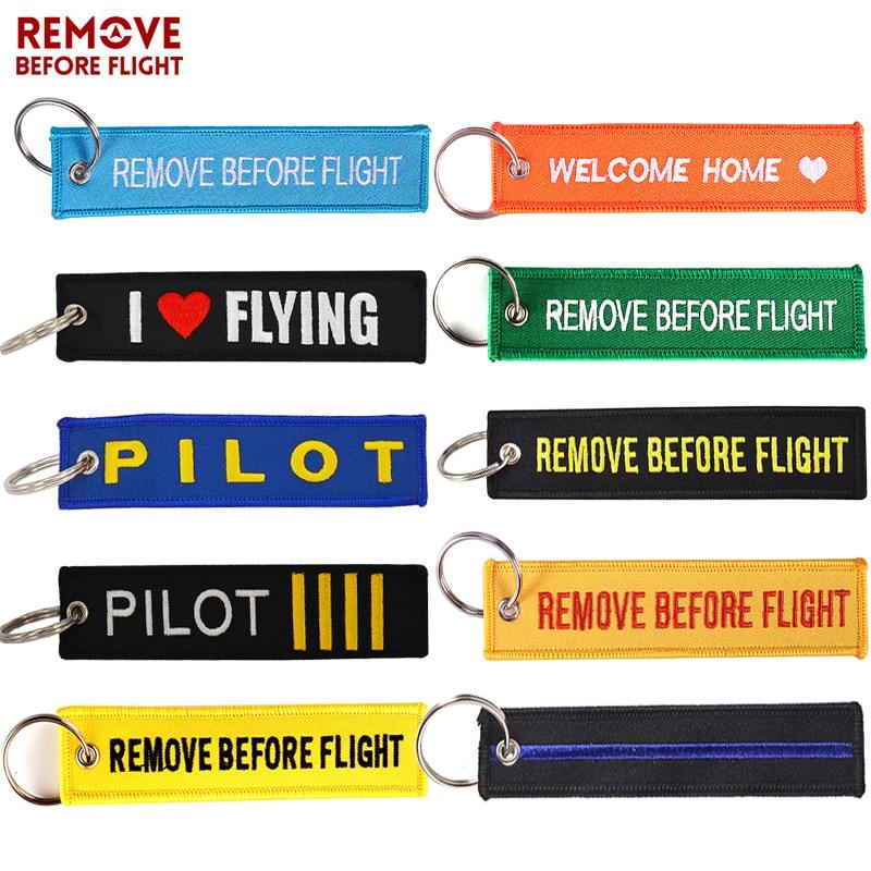 REMOVE BEFORE FLIGHT LUGGAGE KEYCHAIN TAG KEY RING PILOT CABIN CREW ORANGE//BLACK