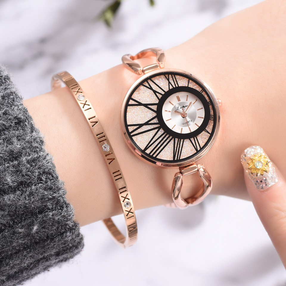 Lvpai Brand Luxury Ladies Women Alloy Rose Gold Dress Quartz Wrist Watch Clock Kol Saati Relogio Feminino For Women
