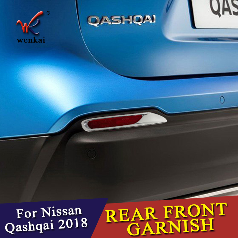 Image 3 - 2 Pcs/lot for Nissan Qashqai J11 2017 2018 ABS Chrome Rear Reflector Fog Light Lamp Cover Sticker Decoration Trim Accessories-in Chromium Styling from Automobiles & Motorcycles