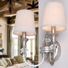 Modern Double Heads Countryside Cloth Shade wall light Pendant Lights