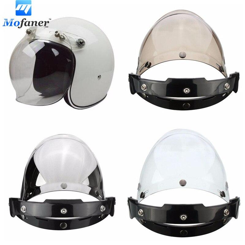 Mofaner Universal Motorcycle Bike <font><b>Helmet</b></font> 3Color 3Button <font><b>Face</b></font> Visor lens Wind Shield Kits