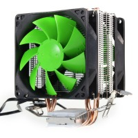 Dual Fan Hydraulic CPU Cooler Heatpipe Fans Cooling Heatsink Radiator For Intel LGA775 1156 1155 AMD