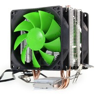 Dual Fan Hydraulic CPU Cooler Heatpipe Fans Cooling Heatsink Radiator For Intel LGA775 1156 1155 AMD