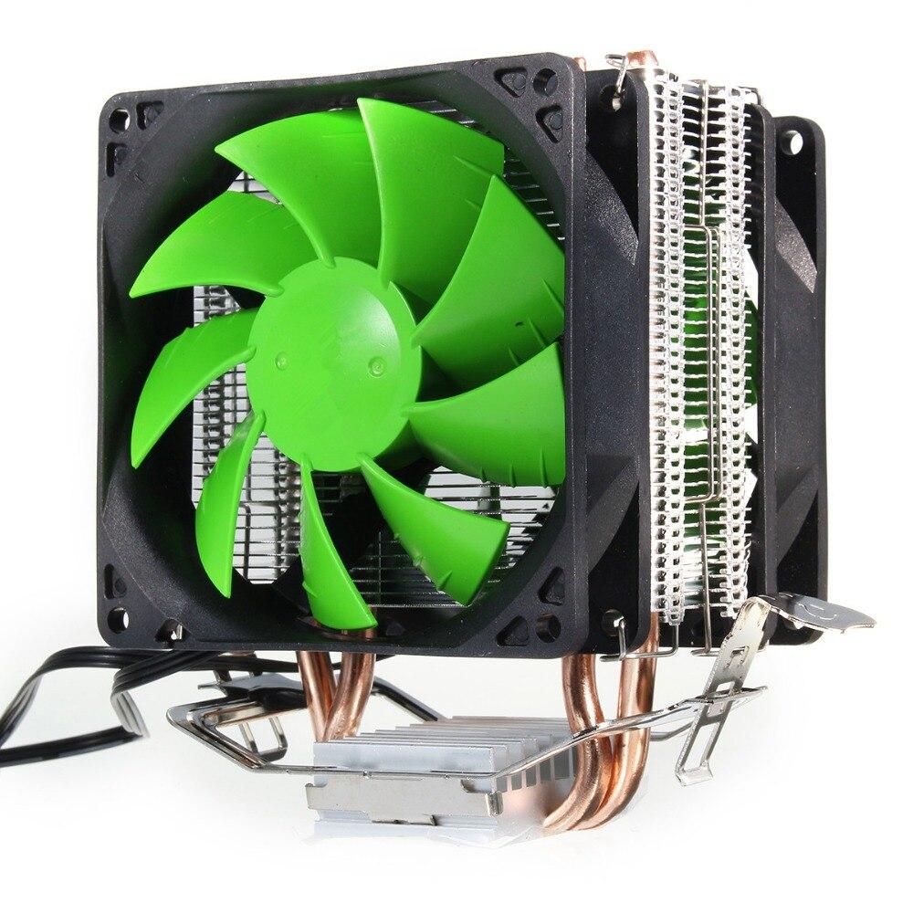 Ventilador Dual hidráulico enfriador de CPU Heatpipe Fans disipador de calor del radiador para Intel LGA775/1156/1155 AMD AM2/AM2 +/AM3/AM4 para Pentium